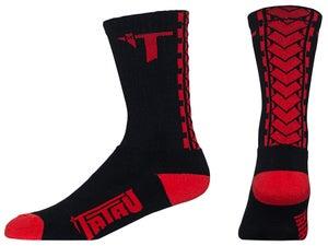 Image of TS-01 Black/Red Socks