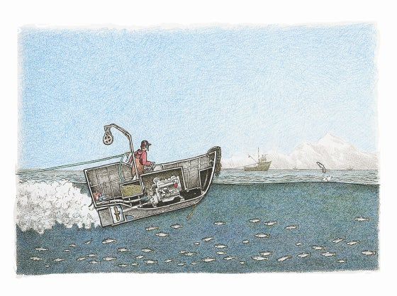"Image of Skiff No 2   8.5"" X 11.5"""