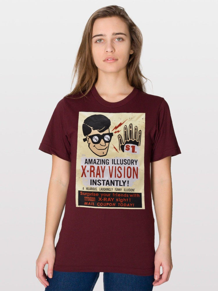 Image of Vintage Comic Book Ad T Shirt - X-Ray Vision Glasses!