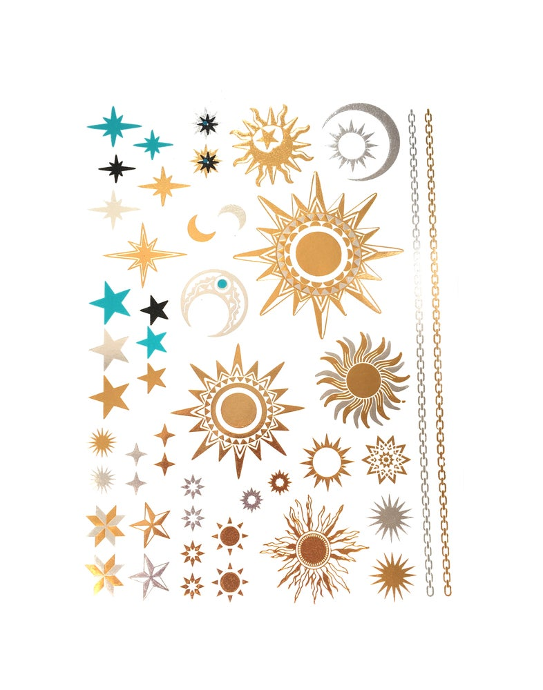 Image of Moonchild Metallic Temporary Tattoos