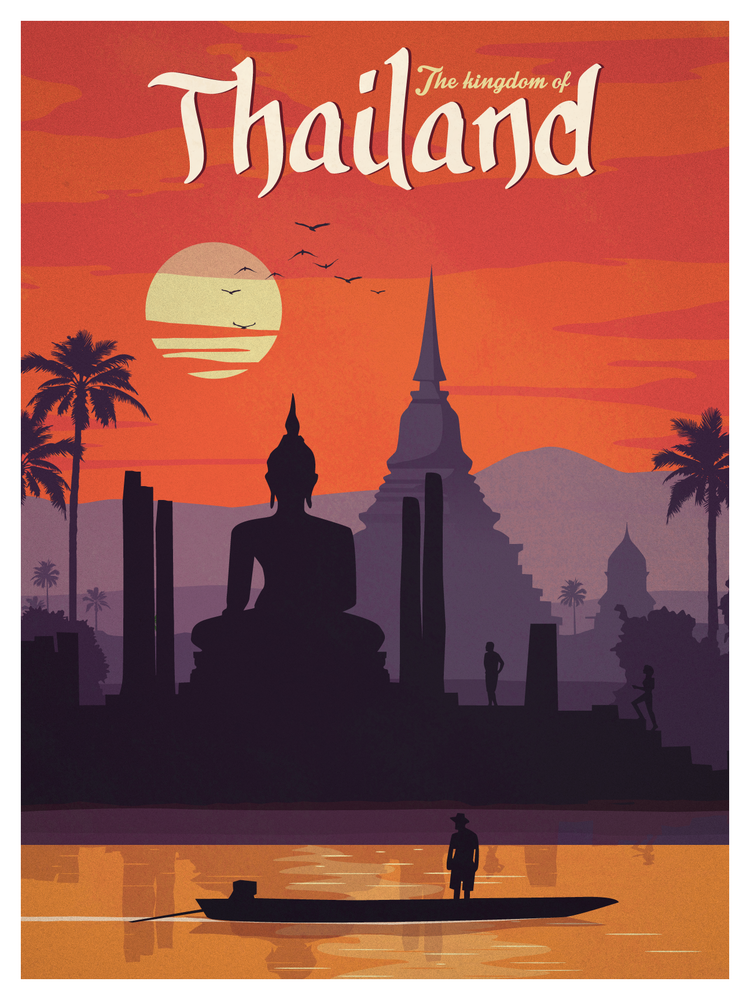 Ideastorm studio store vintage thailand poster for Best store to buy posters