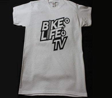 Image of BikeLifeTV Original Logo T-Shirt white