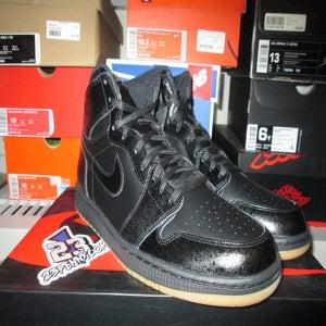 """Image of Air Jordan I (1) Retro HI """"Blk/Gum"""""""