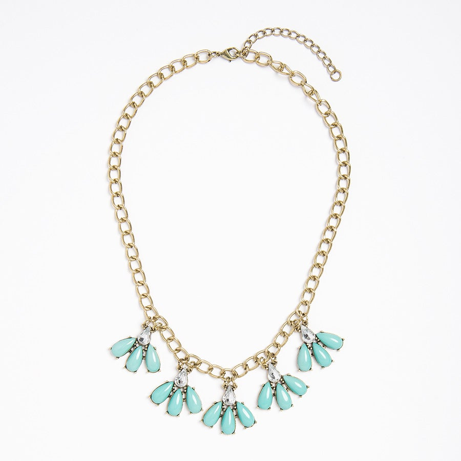 Image of Teal Petal Necklace
