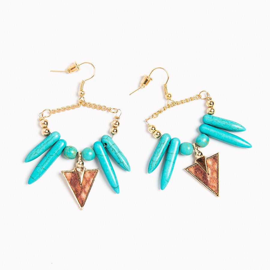 Image of Tribal Arrowhead Earrings