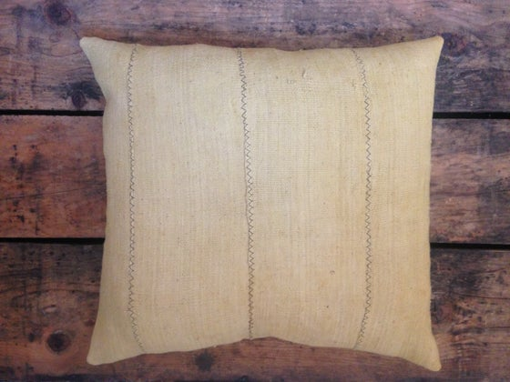 Image of Mustard Mudcloth Cushions