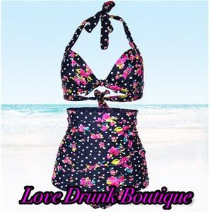 Image of Retro Swimwear w/ Push Up Bra
