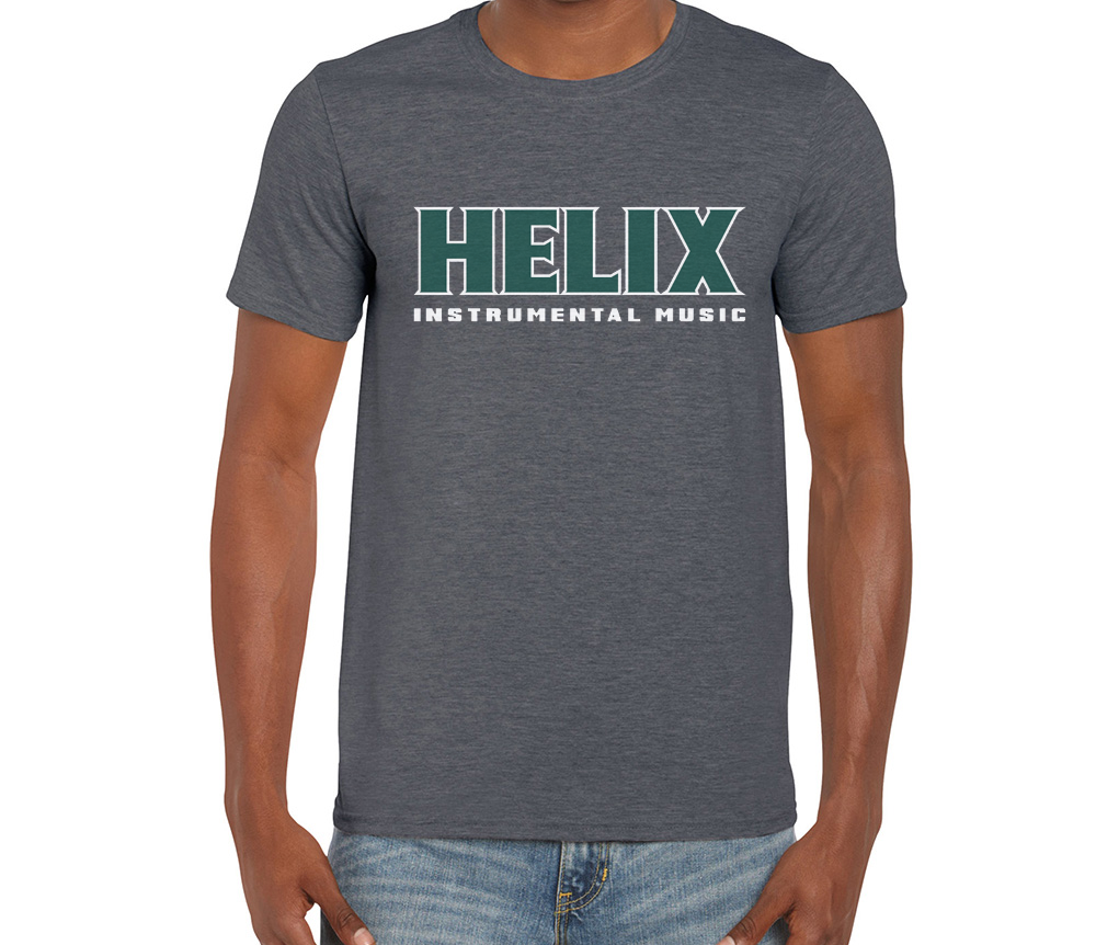 Image of Men's Helix Instrumental Gray Shirt
