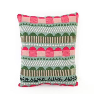 Image of Cupcakes - Lambswool / Leather pillow