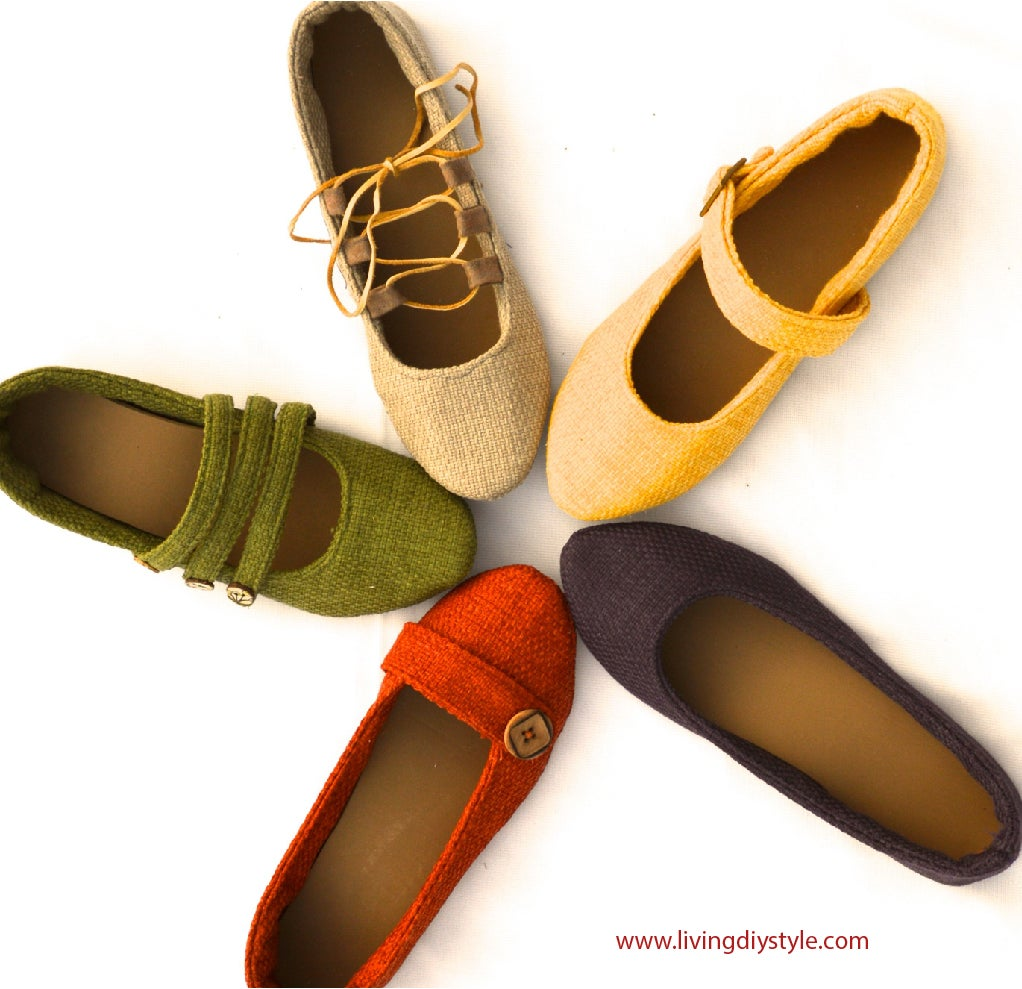 women 39 s ballet flats in 5 different styles watch video livingdiystyle. Black Bedroom Furniture Sets. Home Design Ideas