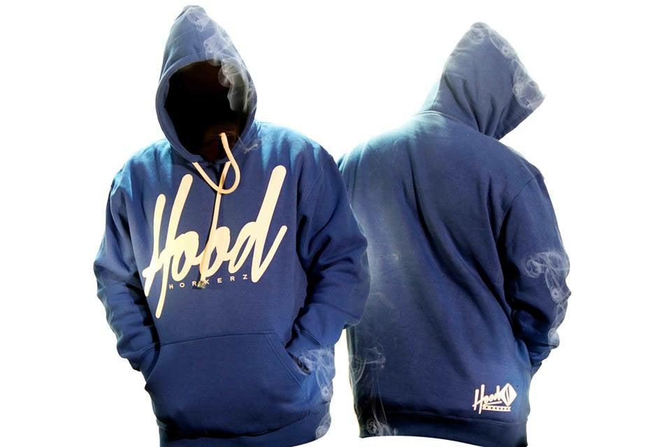 SMOKABLE HOODIE - WHITE HOOD ON ROYAL BLUE - WHITE PIPE / Hood ...