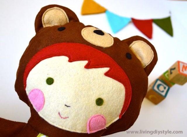 Image of Animal Plushie Doll Sewing Pattern