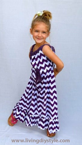 Image of Girl's Maxi Dress Sewing Pattern