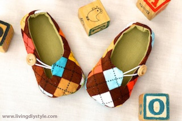 Image of Jack and Jill Baby Loafers Sewing Pattern