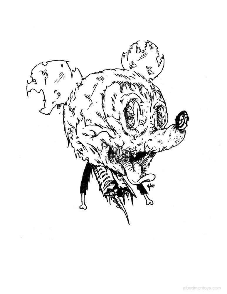 "Image of Print ""Zombie Mickey"""