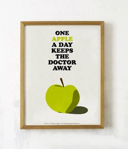 "Image of Affiche ""One Apple…"""