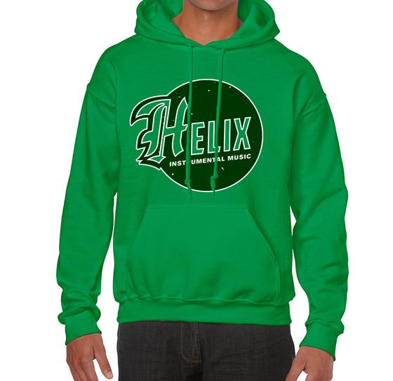Image of Helix Instrumental Logo Green Hoodie