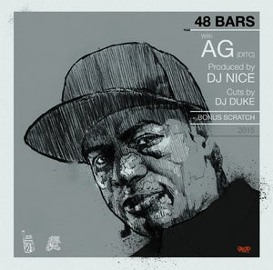 "Image of 48 BARS WITH... 7"" vinyl serie - Part 1 - AG (DITC) / N JIN - Available now!!"