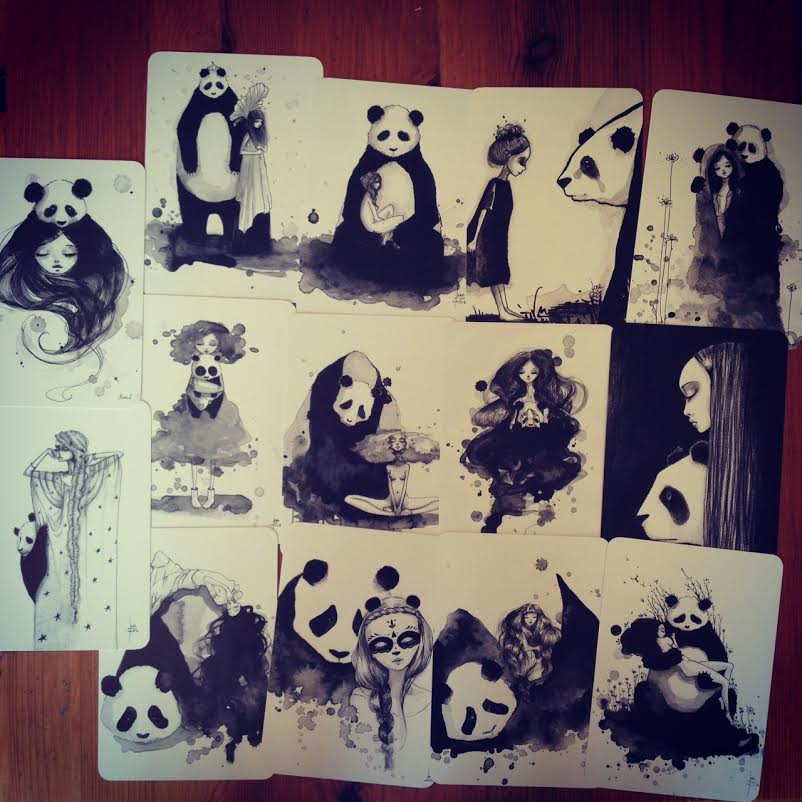 Image of Pandamonium 14 postcards set
