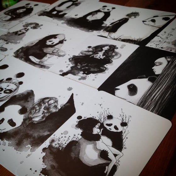 Image of Pandamonium 14 postcards set