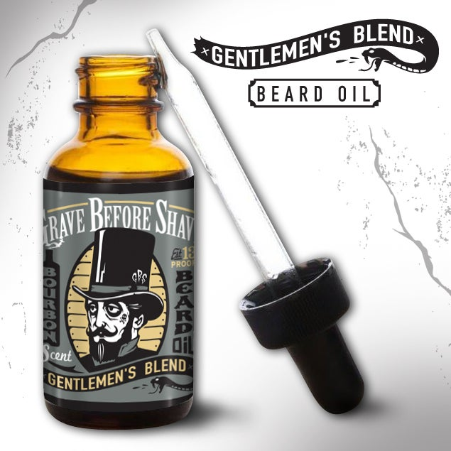 Image of GRAVE BEFORE SHAVE Gentlemen's Blend Beard Oil (Bourbon Scent)