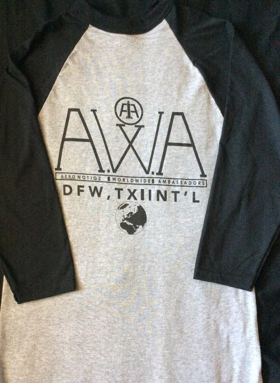 Image of A.W.A. Black & Grey Baseball Tee
