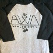 Image of A.W.A. Black & Grey Baseball Tee