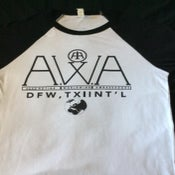 Image of A.W.A. Black & White Baseball Tee