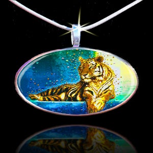 Image of Temple Tiger – Your Personal Spiritual Guardian & Protector - Positive Energy Pendant
