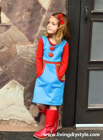 Image of Vintage Apron Dress Sewing Pattern