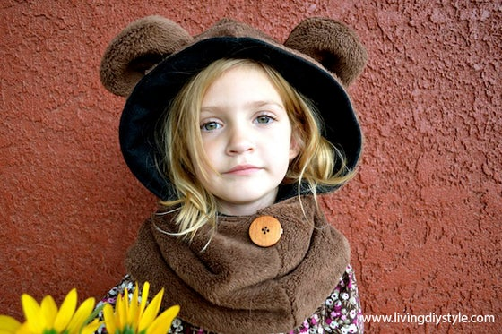 Image of Hoodie Cowl Animal Hat Sewing Pattern