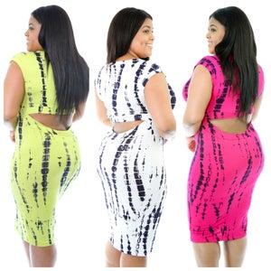 Image of Tie Dye Peek-a-Boo Dress