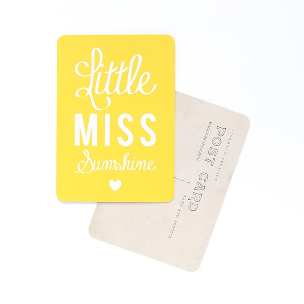 Image of Carte Postale LITTLE MISS SUNSHINE / CITRON