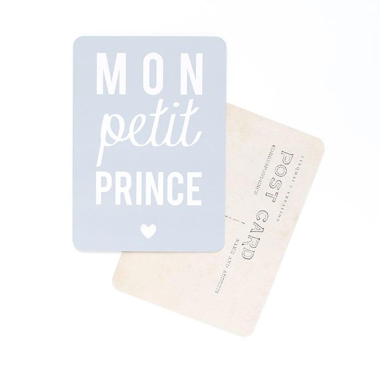 Image of Carte Postale MON PETIT PRINCE / GRIS BLEU
