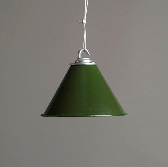 Image of Green Ex MoD Spun Aluminium Shade