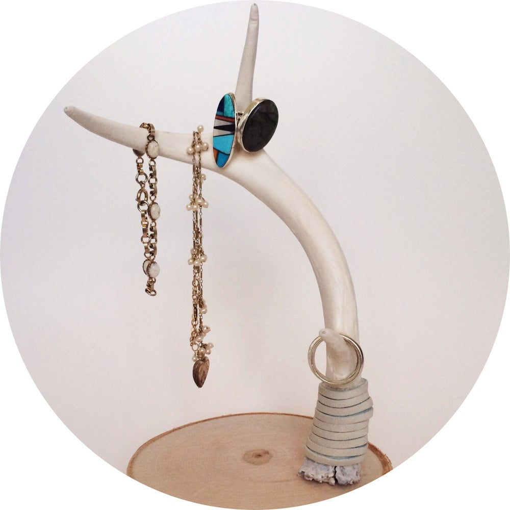Image of Deer Antler Jewelry Stand