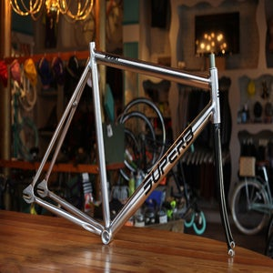 Image of Superb Sprint Track Frameset, High Polish w/Gloss Black Threaded Fork
