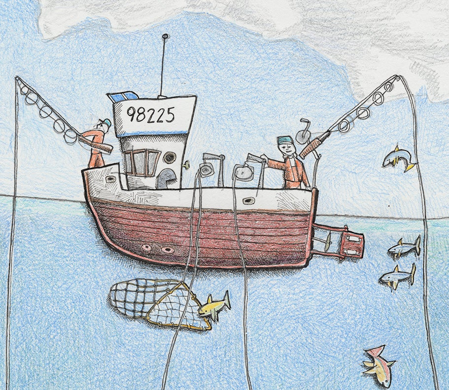 "Image of Fishing Vessel Collaboration No 1 15"" X 12"""