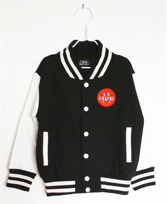 Image of corby tindersticks - black varsity jacket