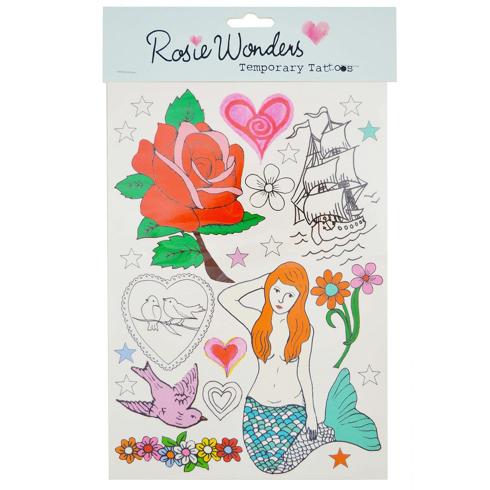 Image of Mermaid Temporary Tattoos