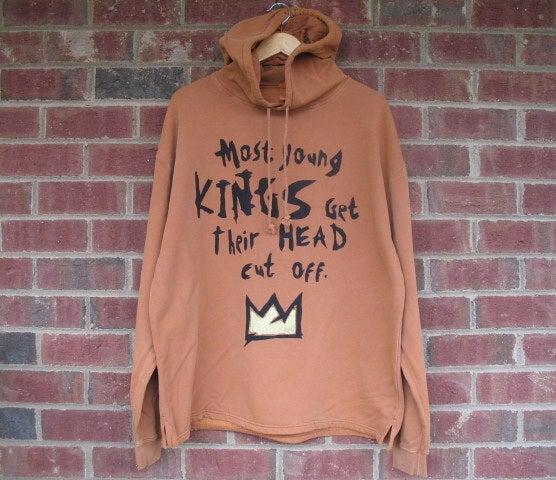"""Image of """"Most Young Kings Get Their Head Cut Off."""" (Hemmed) Hoodie Burnt Orange"""