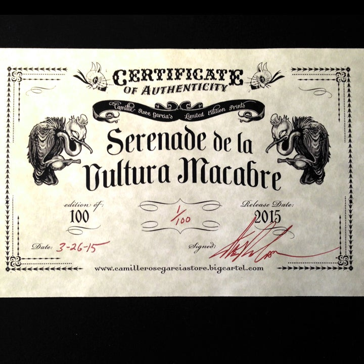 "Image of ""Serenade de la Vultura Macabre"" Mini print"
