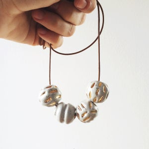 Image of Silver Speckle w/ Gold lustre detail