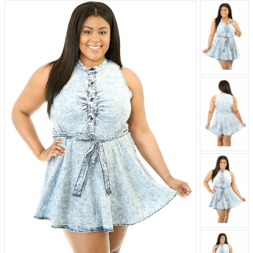 Image of Jean dress plus