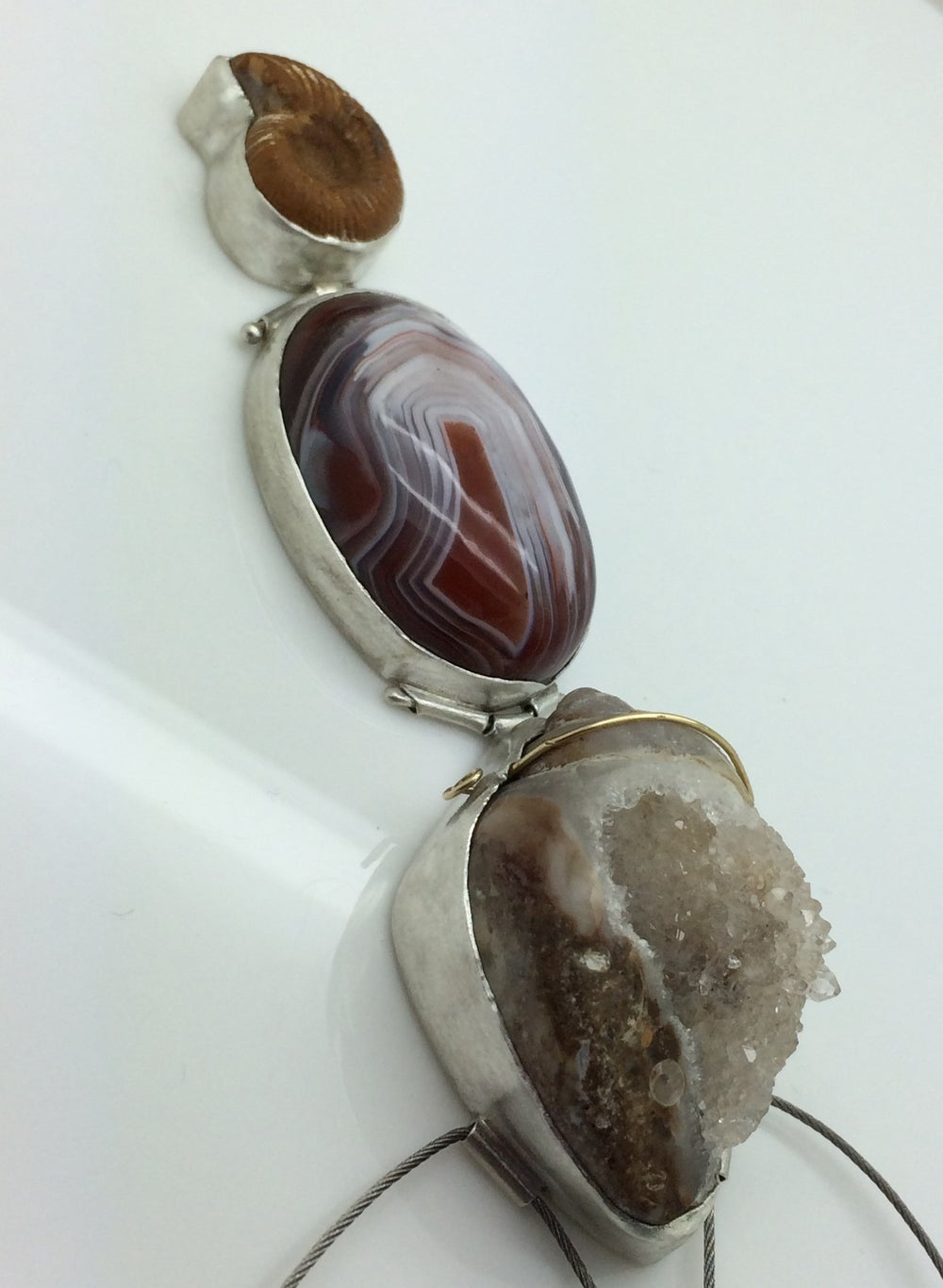Image of Childhood Agate Necklace. Sold