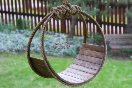 "Image of ""Simply Rustic"" Woodsy Wonders Newborn Wood & Barn Rope Hammock or Dream Catcher"