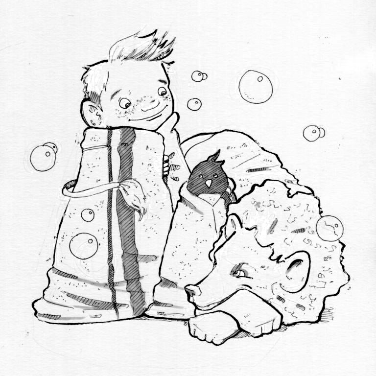 Image of The Penguin and The Lion