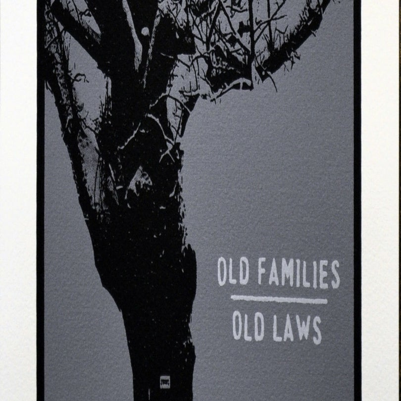 Image of Old Families / Old Laws - Silk Screened Painting