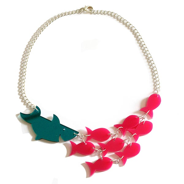 Image of Sharks and Fishes Statement Necklace