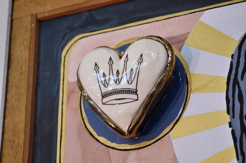 Image of Queen of Hearts - Porcelain Hearts